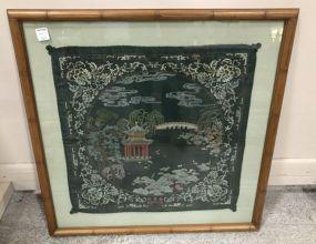 Oriental Style Framed Tapestry