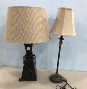 Two Contemporary Table Lamps