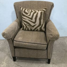 Upholstered Cheetah Cotton Club Style Setting Chair