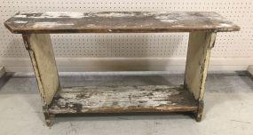 Antique Primitive Hand Made Bench