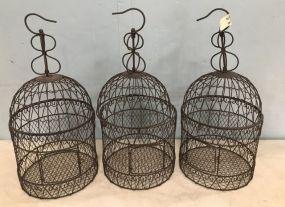 Three Decorative Hanging Bird Cages