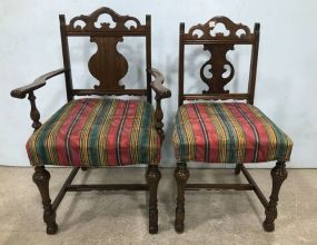 Two English Arm Chair and Side Chair