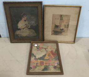 Three Vintage Framed Artworks