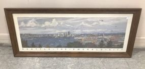Framed Seattle the Emerald City Print