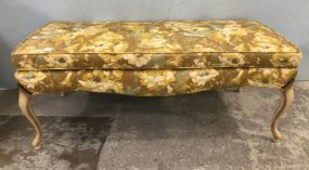 French Provincial Flower Upholstery Bench