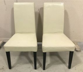 Pair of Faux Leather Side Chairs