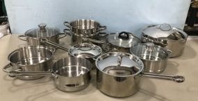 Group Stainless Cooking Pots and Pans