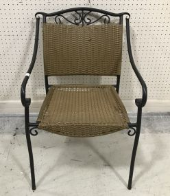 Metal Woven Patio Arm Chair