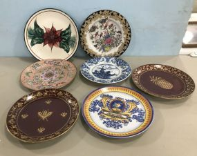 Seven Hand Painted Decor and Collectible Plates