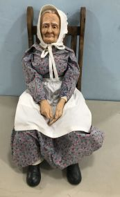 Ceramic Granny Figurine in Rokcer