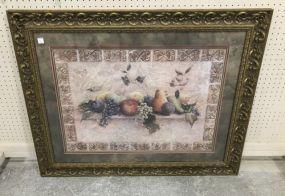 Gold Gilt Framed Fruit Print