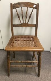 Stick and Ball Eastlake Cane Seat Side Chair