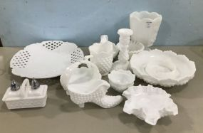 Group of Milk Glass Collectibles