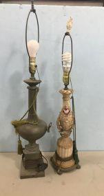 Two Vintage Decor Lamps