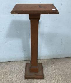 Vintage Wood Pedestal Stand