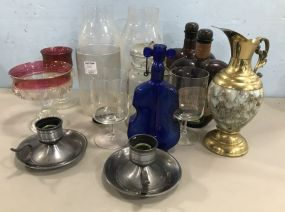 Assorted Collectible Glassware and Decor