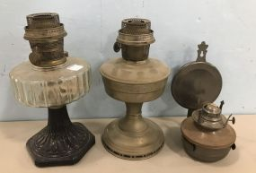Two Vintage Oil Lamps