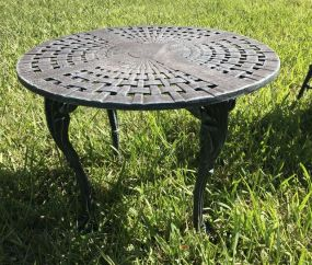 Ornate Aluminum Outdoor Side Table