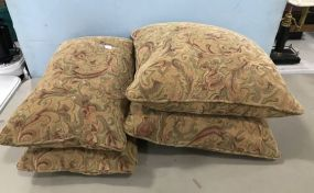 Four Upholstered Down Pillows