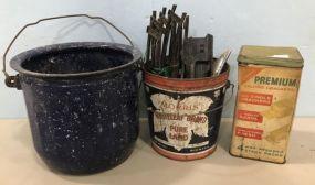 Vintage Tins and Train Tracks
