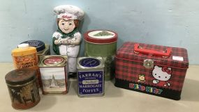 Group of Vintage Collectible Tins