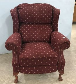 Upholstered Wing Back Recliner