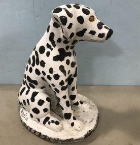 Concrete Dalmatian Statue