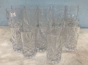 Clear Glass Water Goblets and Cups