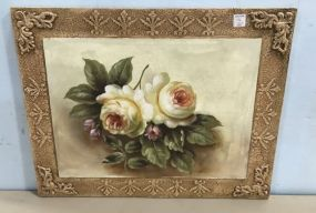 Painted Flowers Wall Plaque