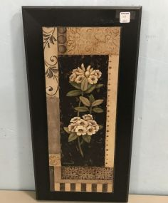 Painted Flowers Wall Plaque Decor