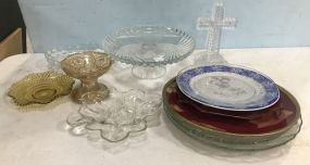 Assorted Group of Glass Serving Pieces