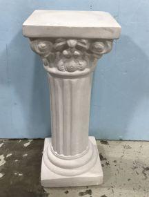 White Ceramic Column Pedestal