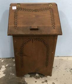 Vintage Wheat Design Waste Basket