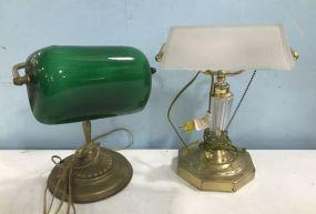 Two Vintage Desk Lamps
