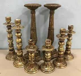 Group of Decorative Candle Stick Holders