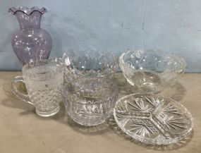 Decorative Clear Pressed Glassware