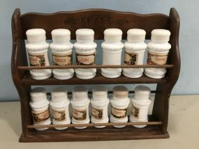 Milk Glass Spice Container Set