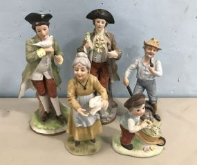 Five Bisque Collectible Figurines