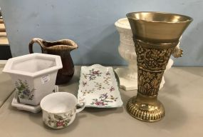 Group of Pottery and Decor