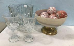 Glass Decor Pieces and Center Piece Compote