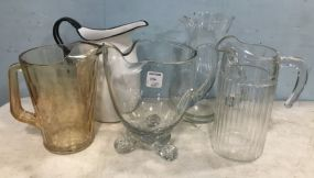 Group of Glass Pitchers