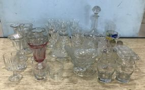 Large Group of Clear Glassware
