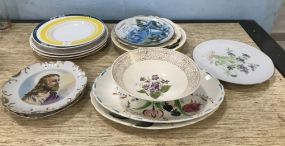 Collection of Collectible Hand Painted Plates