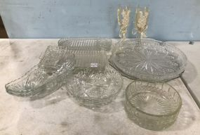 Glass Serving Trays, Dishes, and Glasses