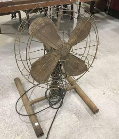 Old Rustic Floor Fan