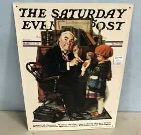 The Saturday Evening Post Norman Rockwell Sign