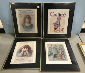 Collection of Reproduction Advertising Sign Prints