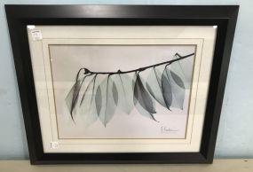 Decorative Framed Leaf Print