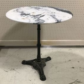 Pier 1 Imports Marble Top Pedestal Table