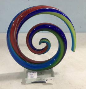 Murano Art Glass Structure